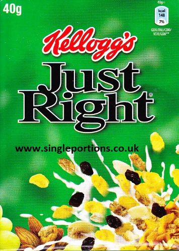 Kellogg's - Just Right - single portions online - breakfast cereal paks packs
